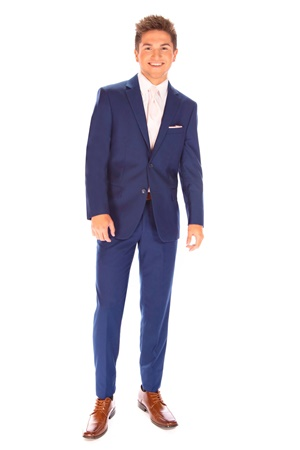 Picture of David Major French Blue Suit