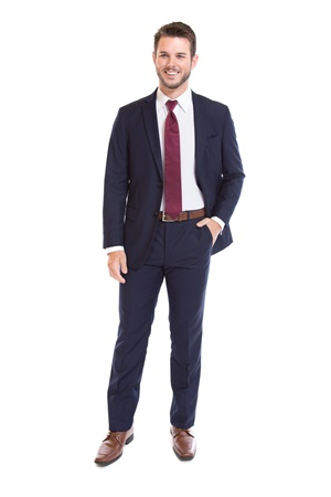 Picture of Kyle Thomas Navy Suit